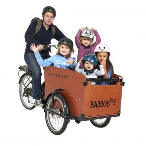 Das Kindertransportrad Babboe Big E mit Elektromotor